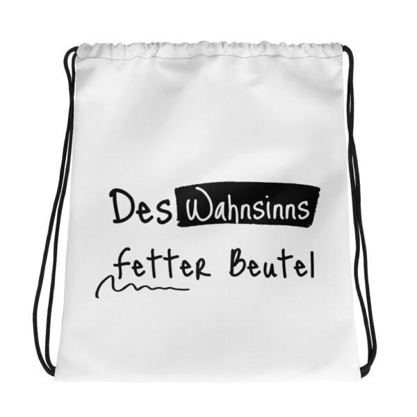 "Kordelzugbeutel ""Des Wahnsinns fetter Beutel"""