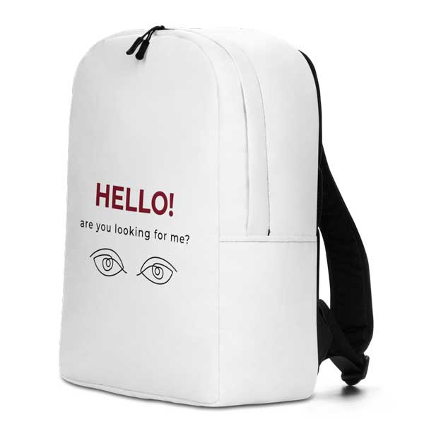 """Rucksack """"Hello, are you looking for me?"""""""