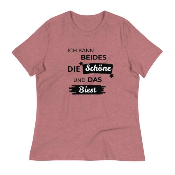 """Damen-T-Shirt """"Ich kann Beides: Die Schöne & das Biest"""""""
