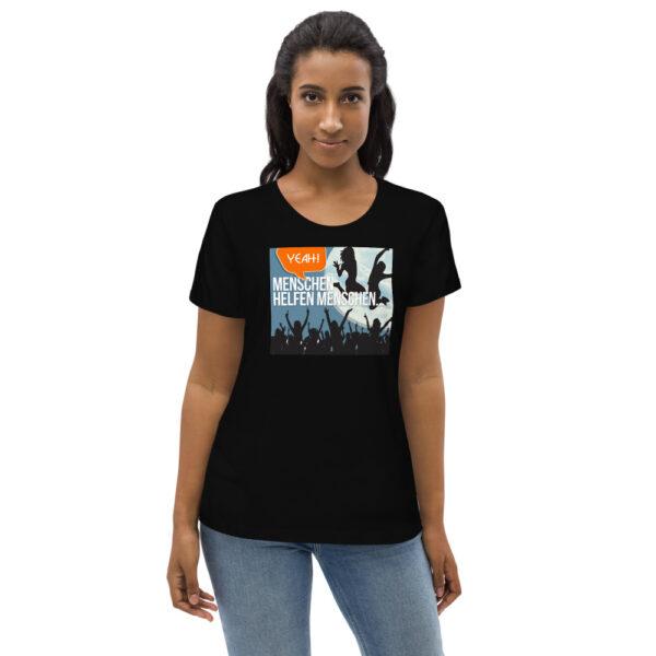Enganliegendes Öko-T-Shirt für Damen